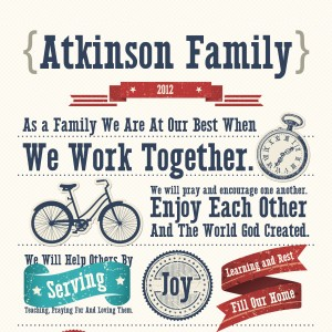 atkinson family mission statement poster